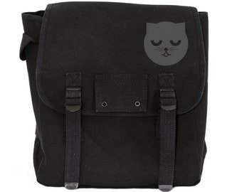 Sleepy Watson the Cat Backpack, Canvas Backpack, Rucksack, Weekender Bag, Cute Diaper Bag, Men's Backpack, Women's Backpack