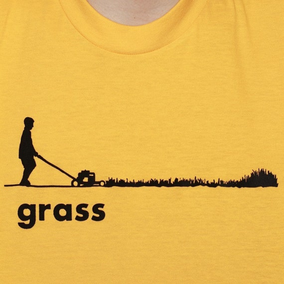 Men Grass American Apparel T-Shirt Gold Available Sizes: Medium, Large or X-Large