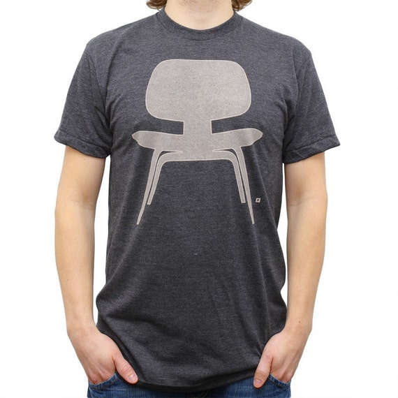 Plywood Chair - Men T-Shirt - Black Heather - Available Sizes: Small, Medium, Large, X-Large