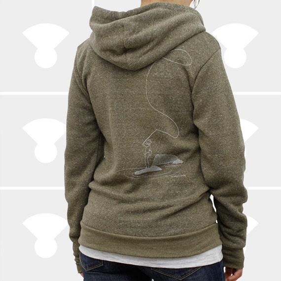 Women hoodie fly fishing zip up hoodie sweatshirt for Fly fishing hoodie