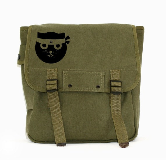 Kung Fu Watson the Cat - Canvas Backpack for Men & Women