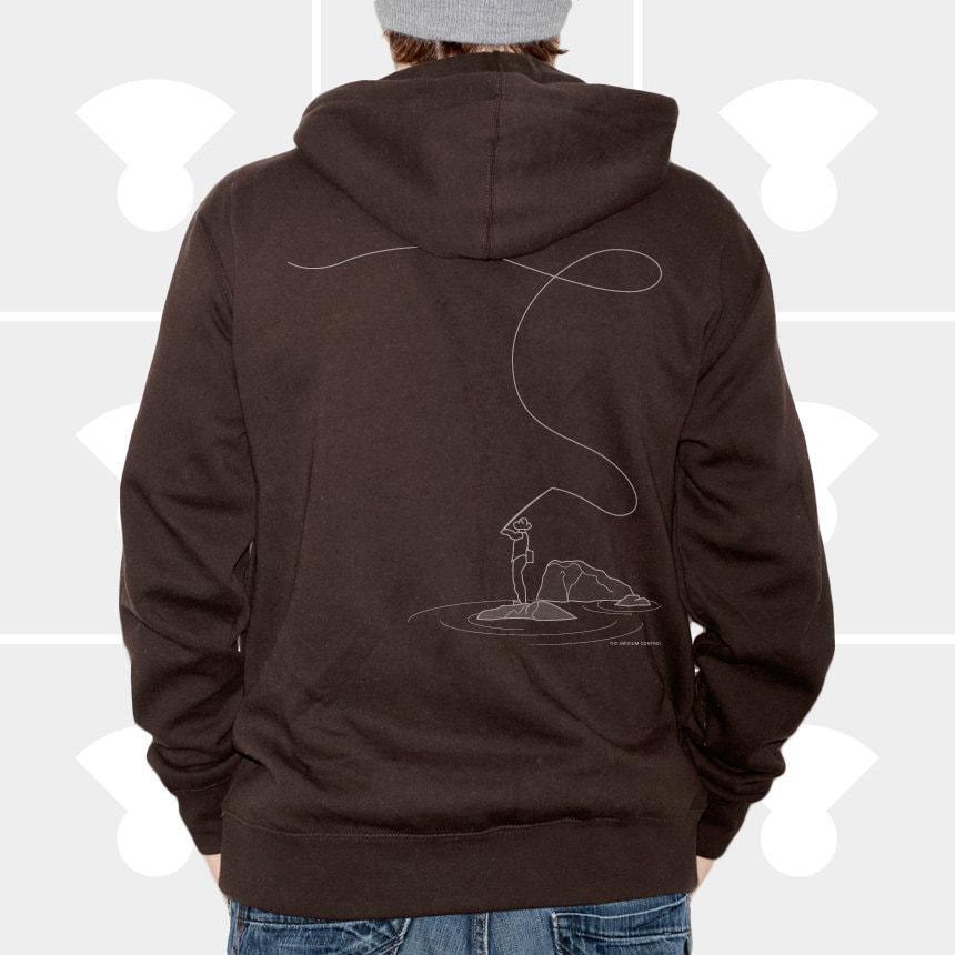 Men hoodie fly fishing lightweight pullover hoodie for Fly fishing hoodie