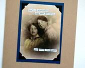 SALE - FRIEND Fun Vintage Photo Card - Besties - Recycled Paper