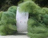 Organic handdyed wool green (reseda and indigo handdyed)