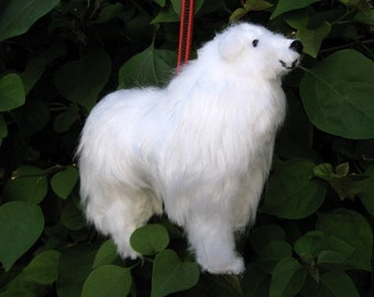 Great Pyrenees Dog Friend Ornament  - Handsewn