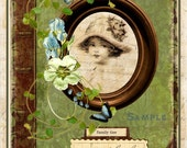 INSTANT DOWNLOAD Vintage Recollections Collage Journal Cover for Ephemera Transfers U-Print Digital