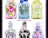 Cottage Chic Pretty Bottle Diecut Embellishments fo r Cards, Tags, Scrapbooks U-PRINT