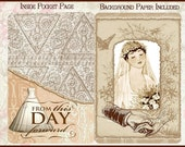 Vintage Heritage Collage  Wedding Mini Journal  Board Book Project with BONUS Tags - Digital Printable