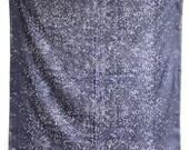 Nani Iro Melody Sketch Double Gauze Japanese Fabric - dark blue