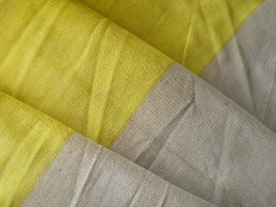 Nani Iro IRO MUJI Japanese fabric - yellow