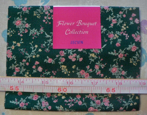 Japanese Fabric Lecien Flower Bouquet - 7824 - green