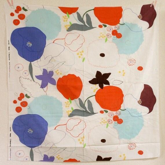 Nani Iro Waltz Double Gauze Fabric - Blue, Red, White