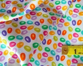 """SALE, Bolt End, Last 15"""", Quilt Fabric, Jelly Beans, Easter, Sewing-Quilting-Craft Supplies"""
