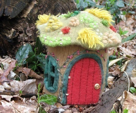 Gnome  Home - Pattern for knitted and felted cottage