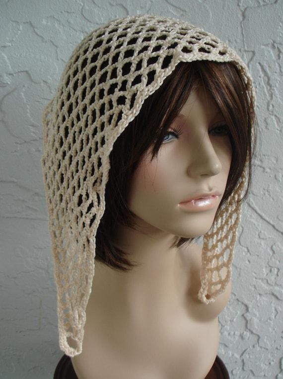 Gypsy do-rag bandana scarf hat in cream Dreadlock Hats For Men