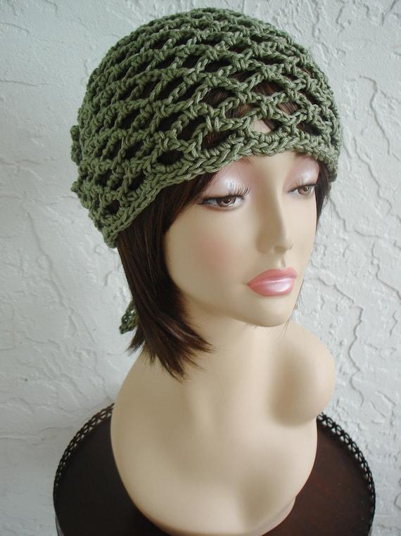 hand crochet Bandana dorag hippie hat  unisex - made to order