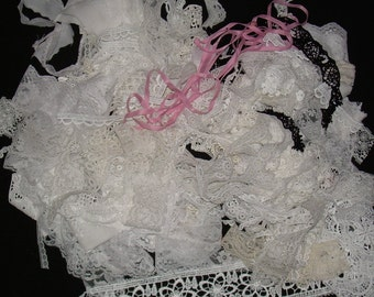 Variety of Crafting  Laces,Trims,Ribbon Pieces