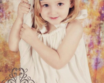 Adorable White Beach portrait dress with wide lace sizes 0-5