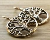 Bronze Organic Tree of Life Earrings