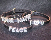 PERSONALIZED RHINESTONE SLIDER NAME BRACELETS