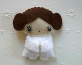 Star Wars Princess Leia doll felt brooch accessory