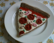 Pepperoni Pizza slice crochet pattern pdf