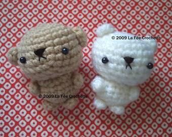 Amigurumi Little moody baby bears crochet pattern pdf