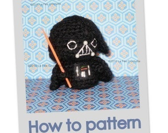 Amigurumi Little Darth Vader Star Wars crochet pattern pdf