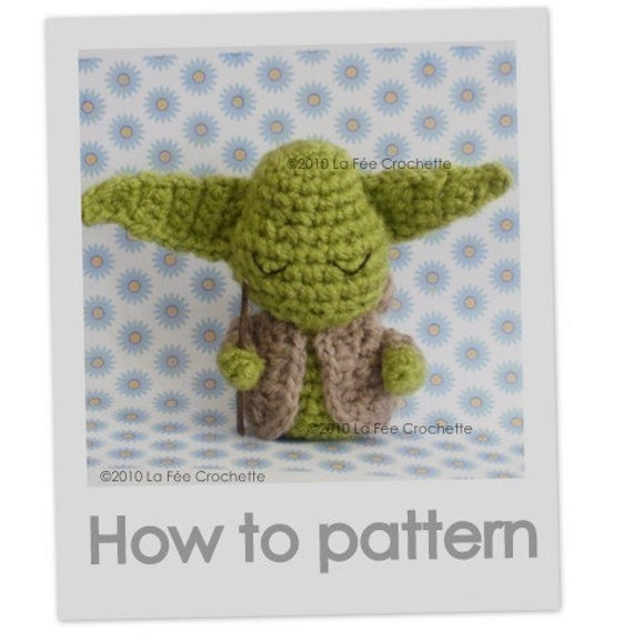 Amigurumi Little Yoda Star Wars doll crochet pattern in pdf