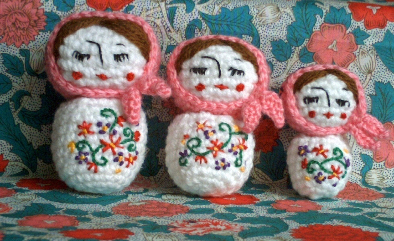 Amigurumi Russian Dolls : Amigurumi Little Russian dolls crochet pattern by ...