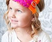 Headband Feather Photo Prop Hot Pink Marmalade Glitz Decades 1930s The Lola