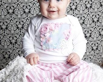 Shabby Bloomer Infant Toddler Set Custom Size Newborn to 4T Marie Antoinette