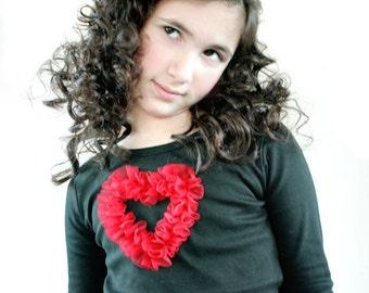 Valentine Tee Glam Heart Custom Size 6/12m 12/18m 18/24m