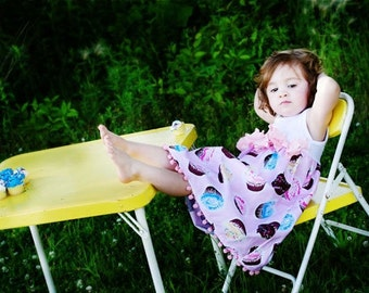 Summer Party Sweets Custom Size 6 month to 4T Custom Dress Cupcake