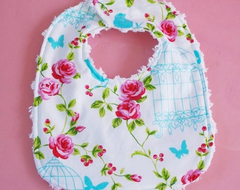 Shabby Birdcage Bib Infant Chenille Great Gift Matching Tweet