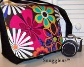 PreOrder  Camera Bag Sm/Med jeweltone/hot lime interior SNUGGLENS