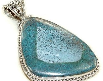 Sale: Blue Turquoise Sterling Silver Pendant