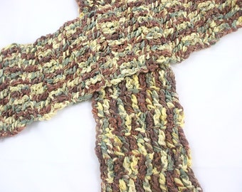 STASH SALE Clearance SLASHED Prices on Scarves - Wood Glow Hand Crochetef Scarf