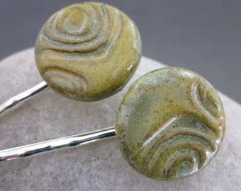 Handmade Ceramic Bobby Pin Pair