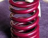 Upcycled Car Engine Valve Spring Maroon Metal Paperweight