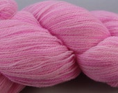 De Stashing...Baby Pink...Merino Wool Laceweight Yarn...ON SALE
