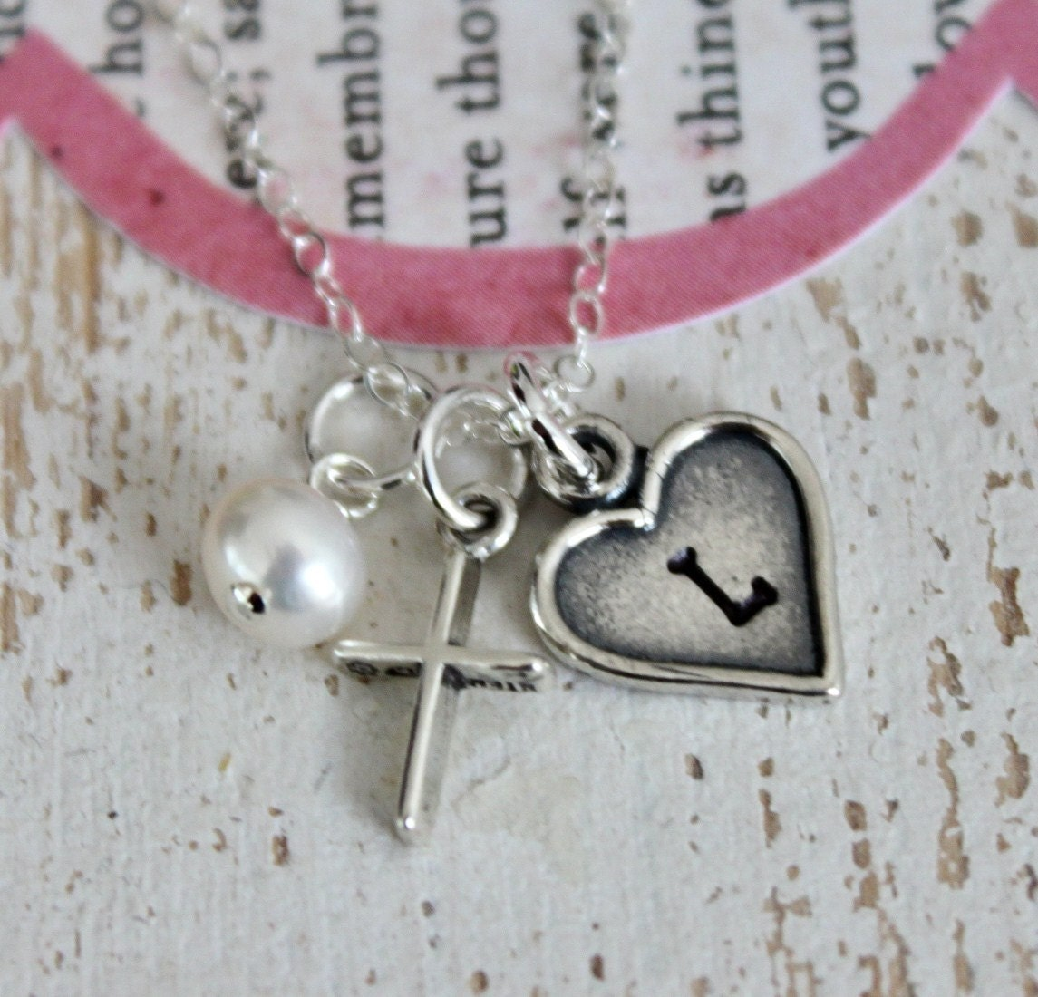 Girls Cross Necklace Baptism Gift Confirmation First