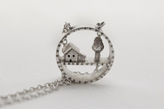 House and Tree Necklace