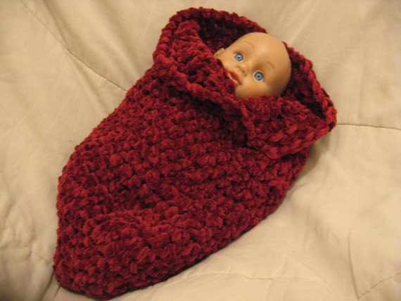 Crochet Baby Papoose Pattern Free : PATTERN Baby Papoose cocoon crochet