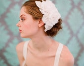 Bridal hair piece, silk flower comb - Double silk gardenias hair comb - Style 118 - Made to Order