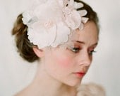 Blush bridal hair flowers, silk - Blush cluster head piece - Style 125 - Made to Order