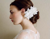 Bridal silk flowers - Silk blossom pair, medium - Style 201 - Ready to Ship