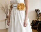 Pretty wedding dress flower, handmade bloom, bridal or bridesmaid belt