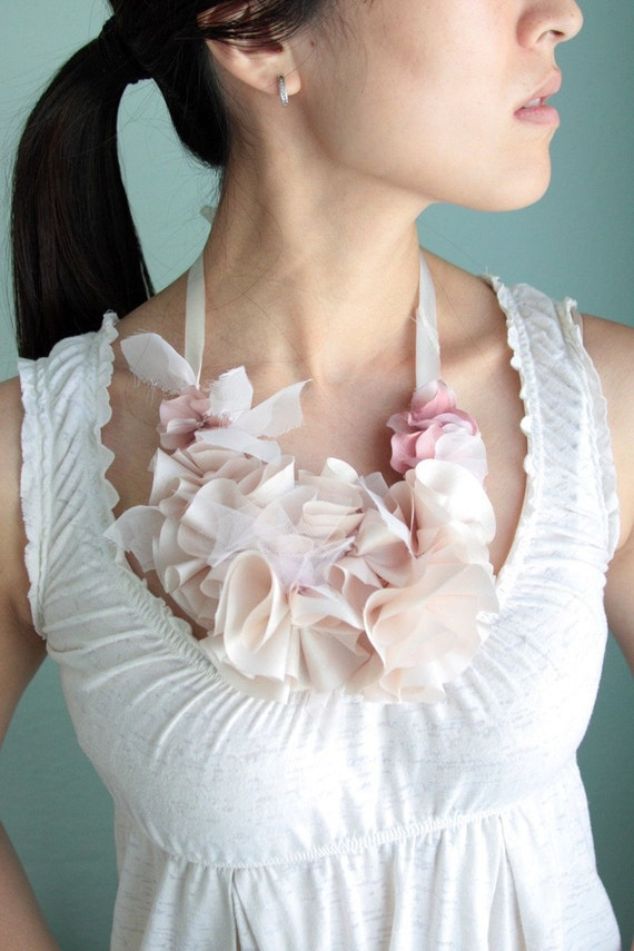 Rise and Shine Necklace - Bridal, bridesmaid, or everyday silk flower necklace - Made to Order