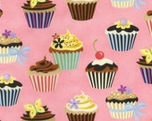 Robert Kaufman SWEET TOOTH Cupcakes Fabric in Blossom